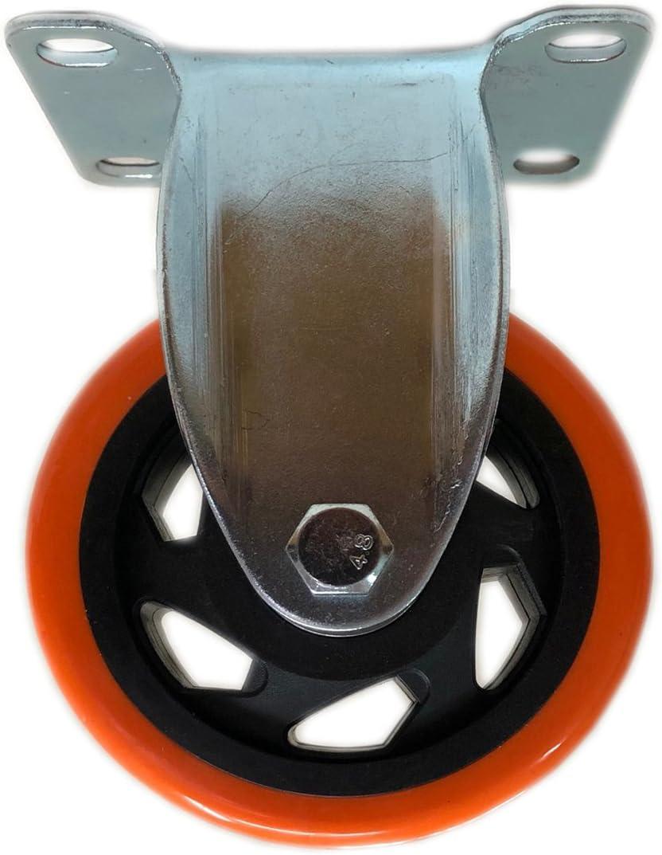 Naranja 125/mm. 75/mm Kippen 1642/C Rueda de poliuretano con placa fija