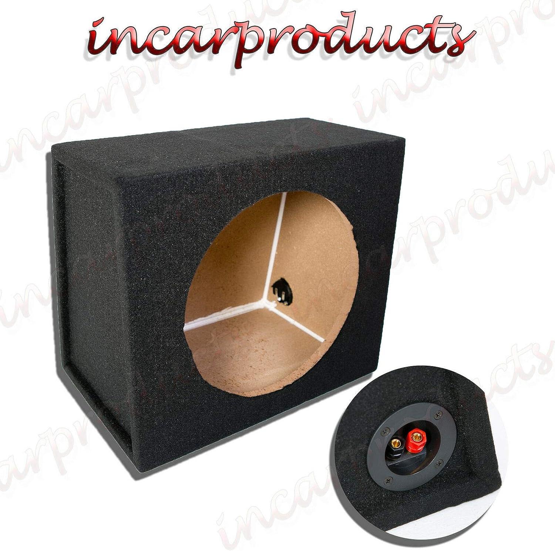 Enclosure 8 Inch 20 cm Single Sealed Black Carpeted Subwoofer MDF Box Bass