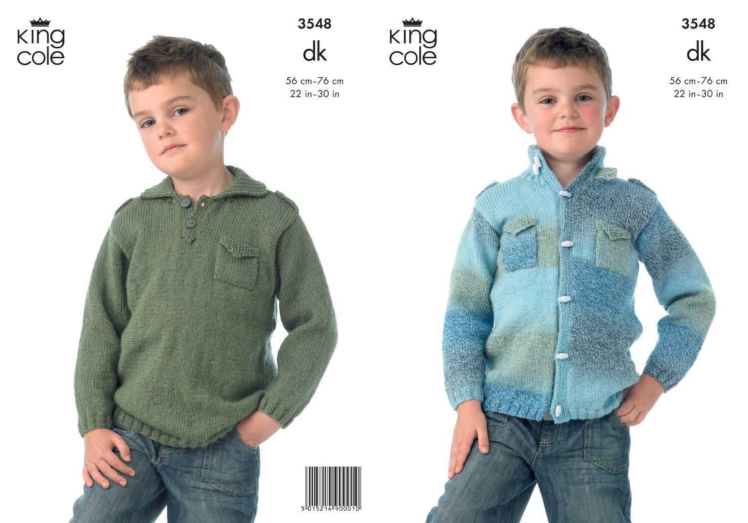 6bb50696c9bd9 King Cole Boys Double Knitting DK Pattern for Long Sleeved Jacket   Sweater  with Pockets 3548  Amazon.co.uk  Kitchen   Home