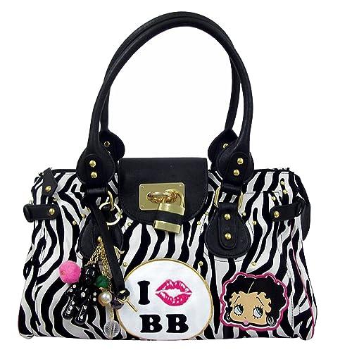 5514190b6dd6 Betty Boop On Safari Women s Print Handbag White Black One Size  Amazon.co.uk   Shoes   Bags
