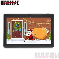 "Haehne 7"" Tablet PC, Android 9.0 Certificado por Google GMS, 1GB RAM 16GB ROM Quad Core, Cámaras Duales 2.0MP+0.3MP, Pantalla 1024*600 HD, WiFi, Bluetooth, Negro"