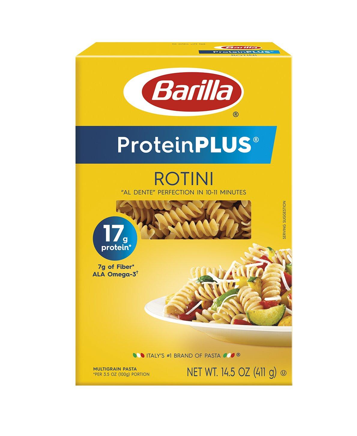 Barilla ProteinPlus Multigrain Pasta, Rotini, 14.5 Ounce (Pack of 8)