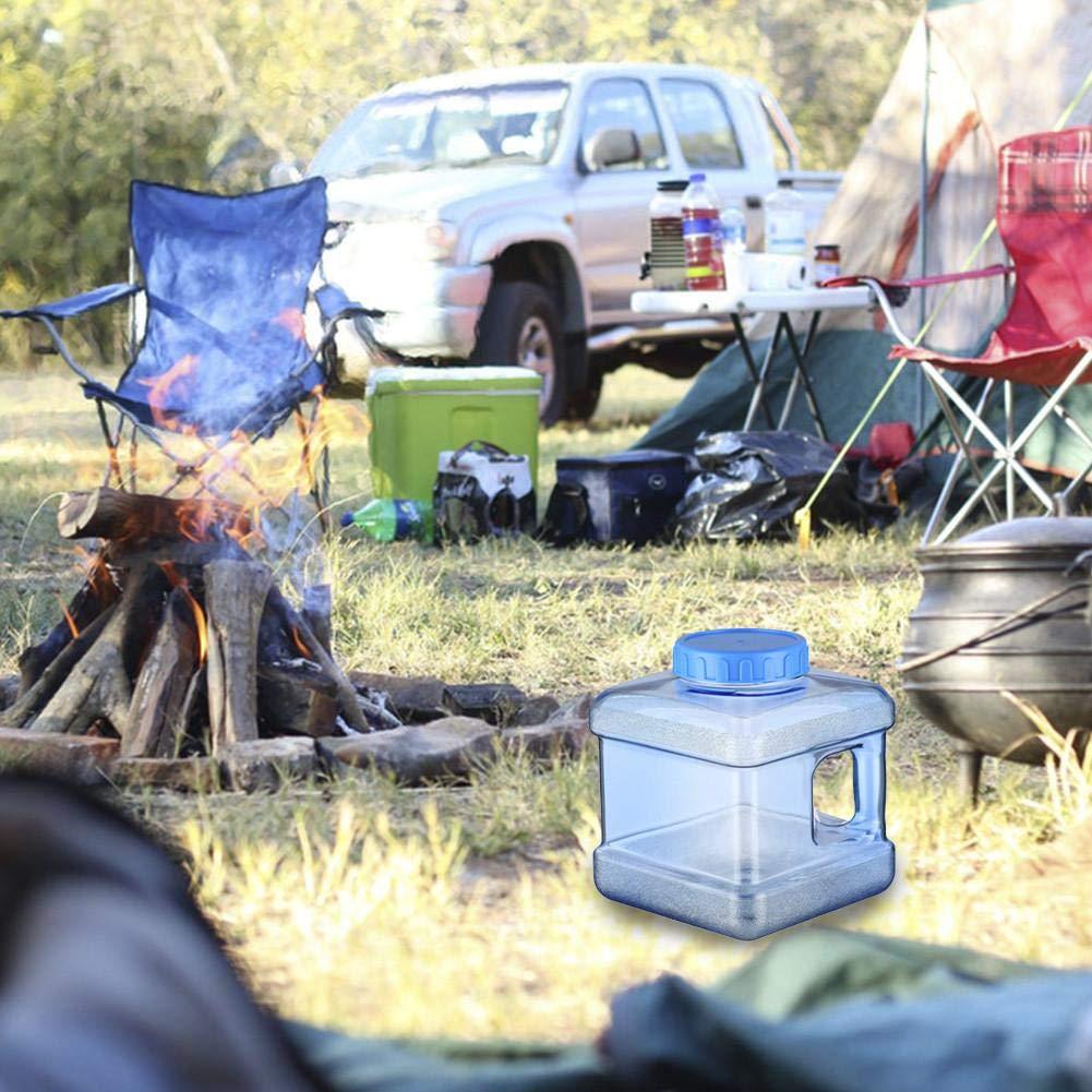 Succeedw 5//7.5L Jerrican Alimentaire Camping Seau De Camping Plastique Transparent Carr/é Bidon deau avec avec Couvercle Et Poign/ée Seau /à Boire pour Boire De leau Potable en Ext/érieur