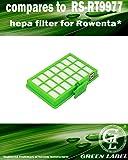 Filtre de rechange HEPA pour les aspirateurs Rowenta Power Space (alternative à RS-RT9977). Produit Green Label authentique