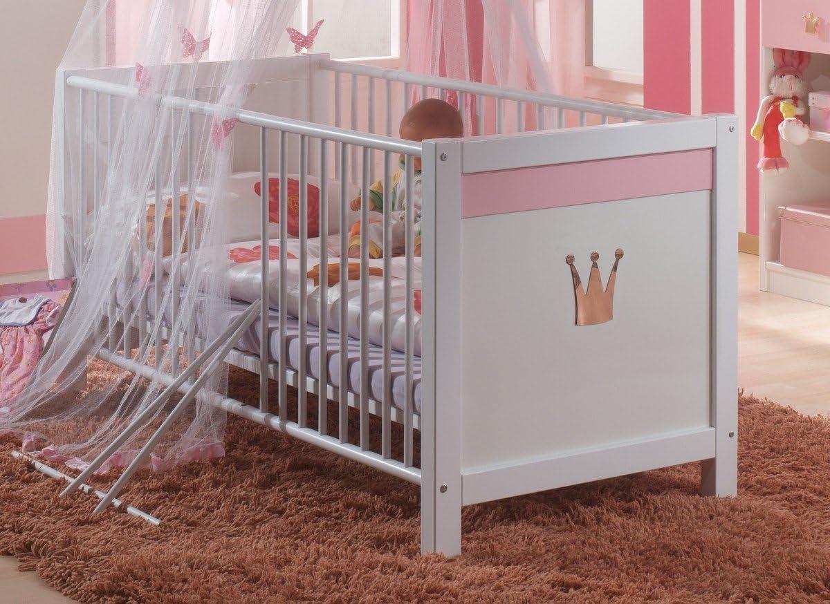 Ausf/ührung:mit Bettseiten 70 x 140 Kinderbett Dreams4Home Babybett Princess Kinderzimmer Bettseiten Babyzimmer Baby Bett