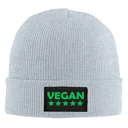 Five Star Vegan Unisex Warm Winter Hat Knit Beanie Skull Cap Cuff Beanie  Hat Winter Hats Black at Amazon Men s Clothing store  66a07642712