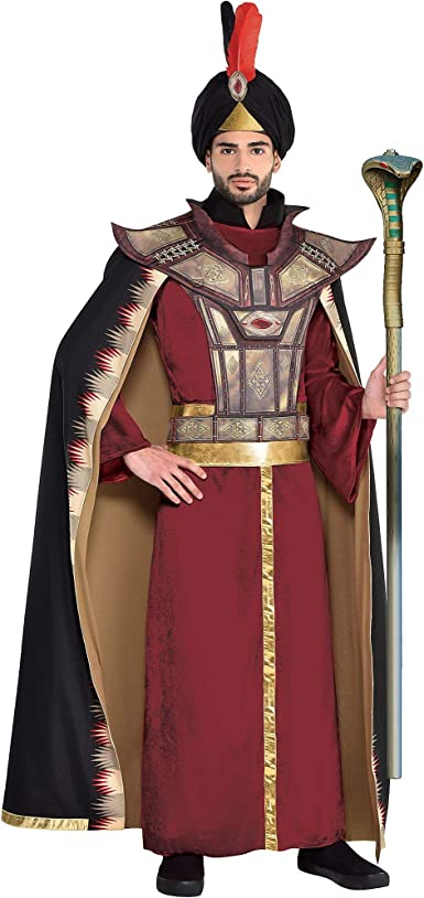 Party City Jafar disfraz de Halloween para hombres, Aladdin Live ...