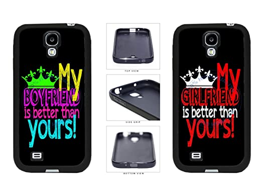competitive price 06bc1 22ca4 MY BF/GF Is Better Than Yours - Set of 2 Phone Case Back Cover ...