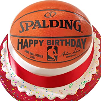 Outstanding Basketball Happy Birthday 7 5 Inch Precut Edible Icing Cake Topper Funny Birthday Cards Online Aeocydamsfinfo