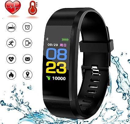 HK Fitness Tracker HR, Activity Tracker Smart Watch Waterproof Smart Bracelet Wristband with Heart Rate Blood Pressure Sleep Monitor GPS Step Calorie ...