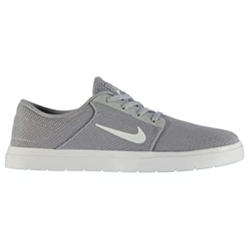 Nike SB Portmore Ultralight Trainers Mens Grey/White Casual Sneakers Shoes  (UK7) (
