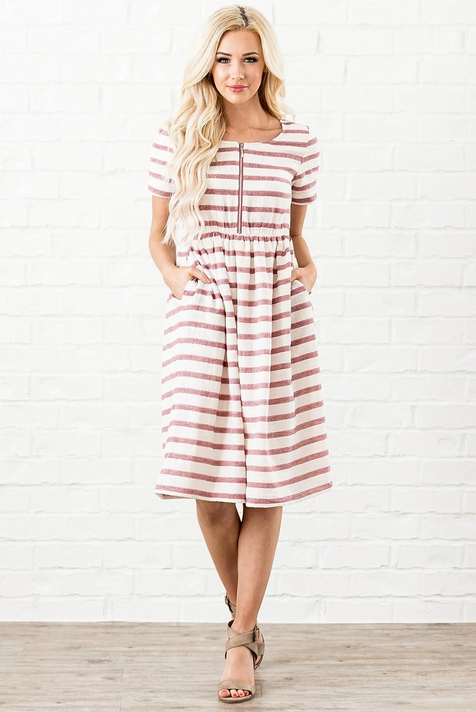a6641c1886b7b Mikarose Ryan Modest Dress, Modest Nursing Dress at Amazon Women's Clothing  store: