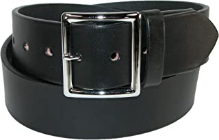 product image for Boston Leather Men's Big & Tall Leather Garrison Belt with Hidden Elastic Stretch