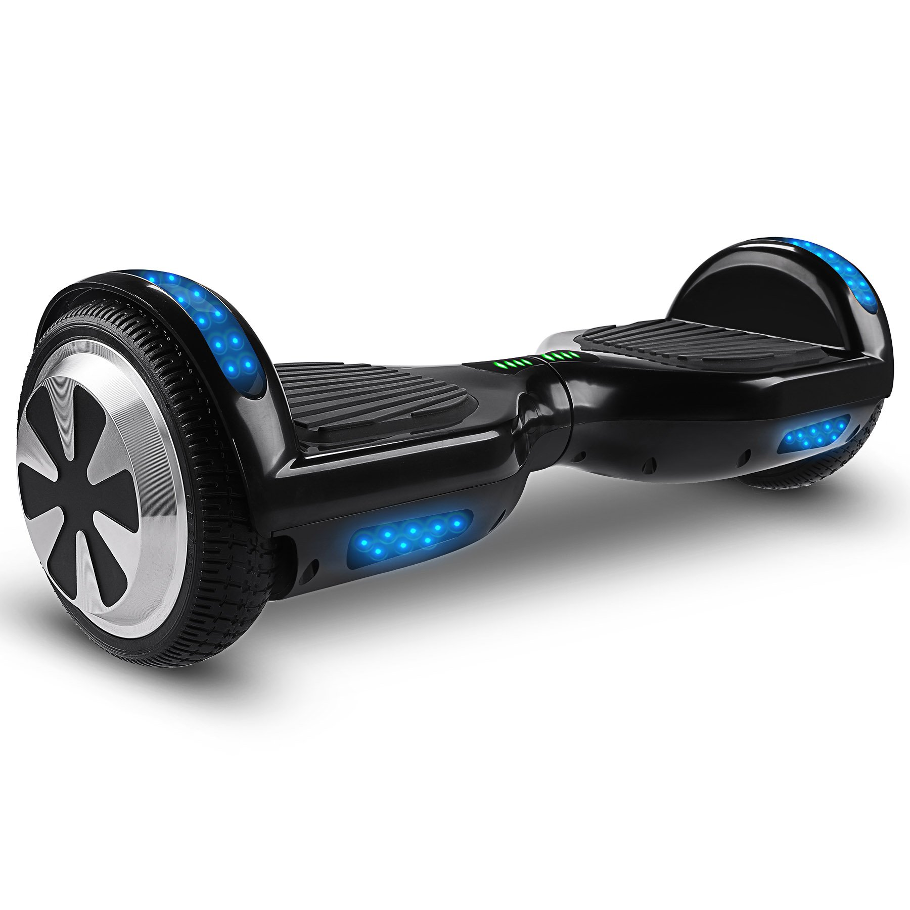 OrionMotorTech Hoverboard UL2272 Certified, Smart Self Balancing Scooter with Bluetooth Speaker & Flash LED Indicator Lights 6.5'' Two-Wheels (Black)