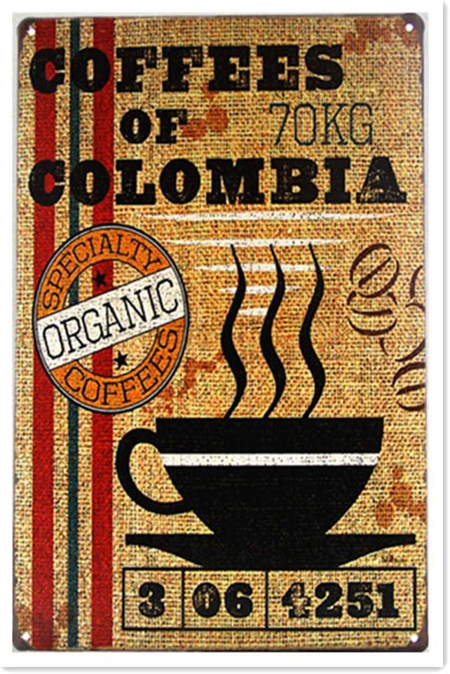 Hunnry Coffee of Colombia Shabby Iron Pintura Retro Personalizado ...