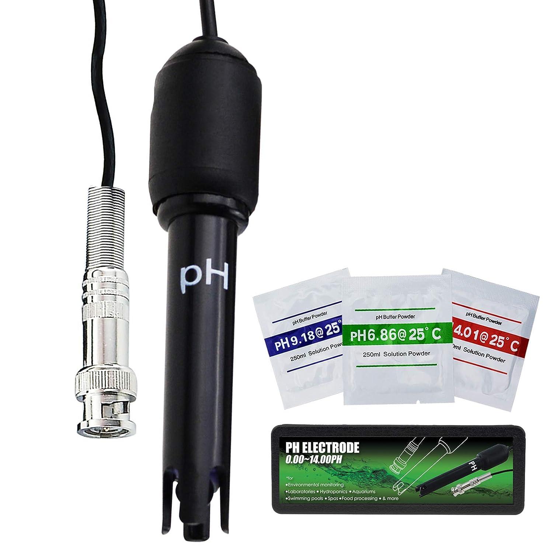 Electrodo de PH con BNC Enchufe Sonda 150cm Cable 0-14pH