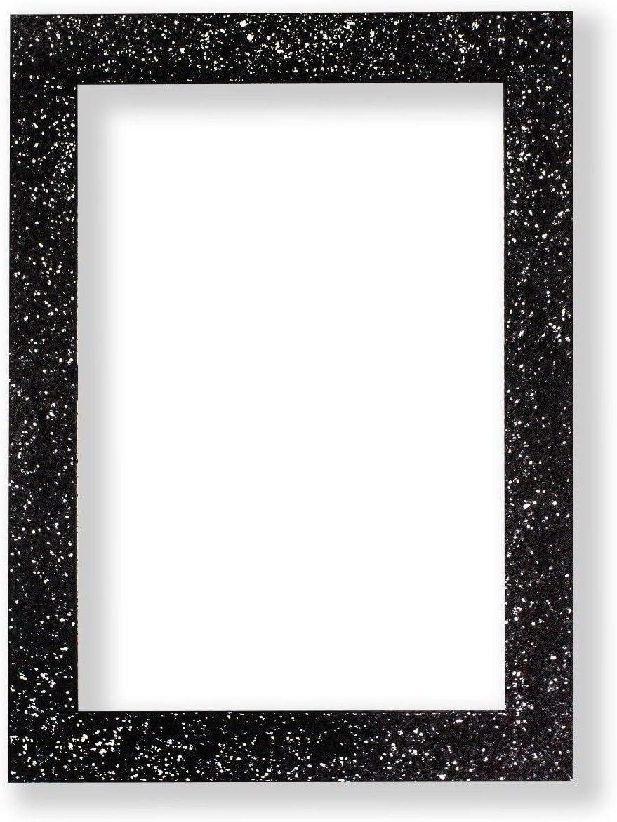 plastica with Perspex Sheet Memory Box Cornice per foto e poster con vetro plastificato 59.4 x 42cm A2 con glitter luccicanti rosa