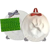 Ultimate Pawprint Keepsake Kit (Makes 2) - Paw Print Xmas Ornament with Bonus Personalization Tool & Display Stands! For Dogs, Cats & Pets. Non-toxic. Air-Dries Soft, Light & Uncrackable.