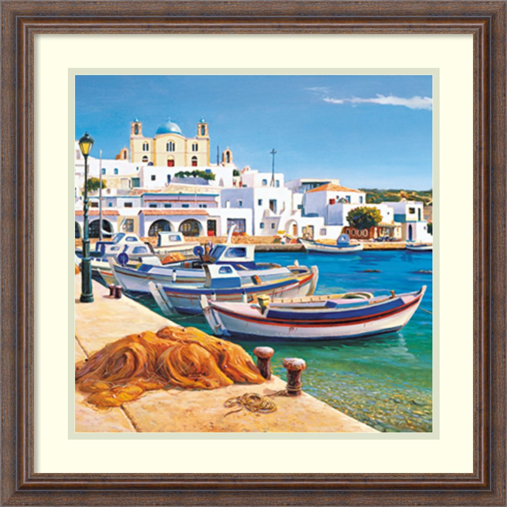 Amazon.com: Framed Art Print Porticciolo Mediterraneo by Adriano Galasso: Posters & Prints