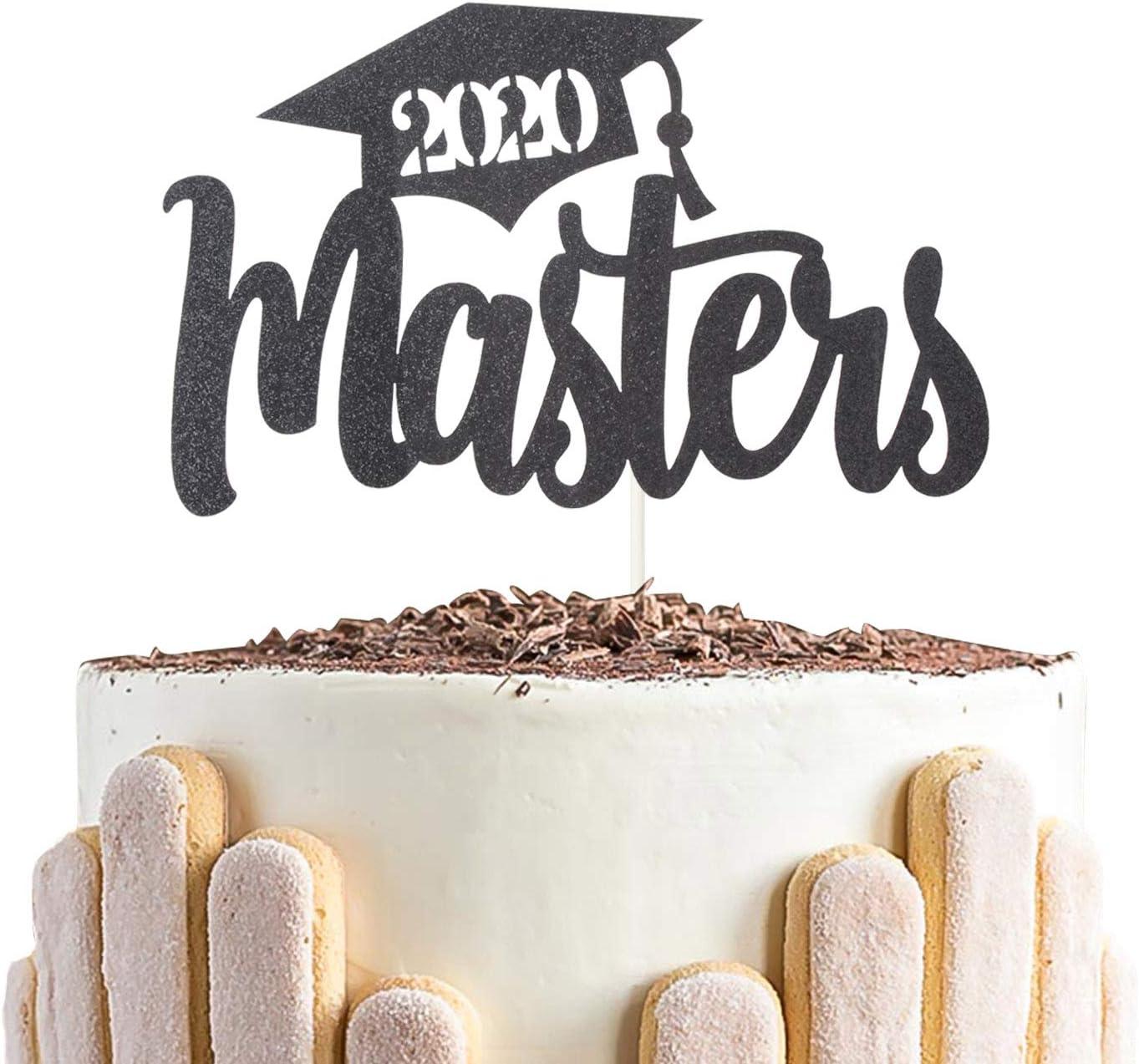 2020 Masters Cake Topper for Congrats Grads Graduate Cake Decor College Graduate Party Decorations