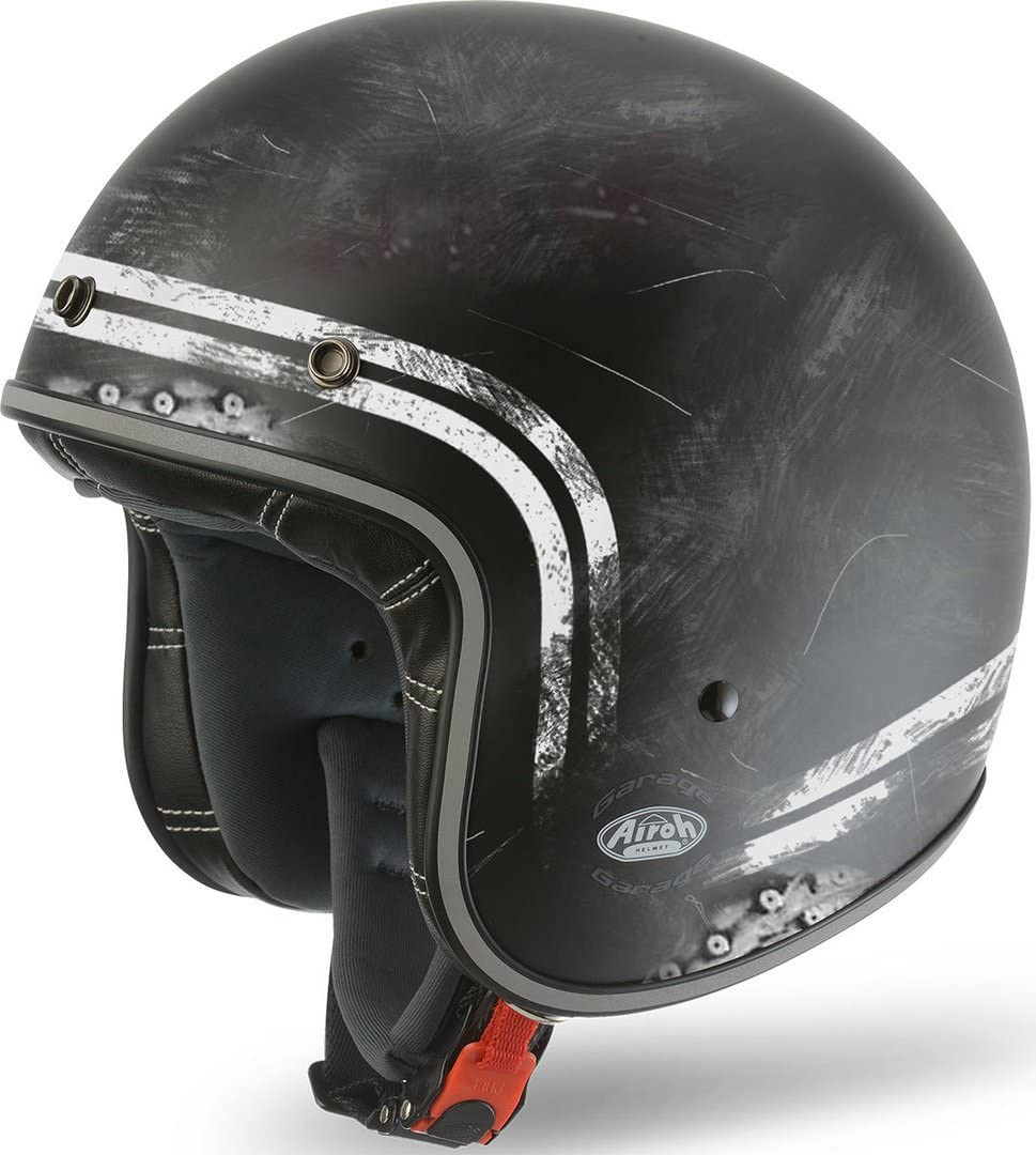 Airoh casco moto airoh jet garage raw matt gara35 xxl cag1f