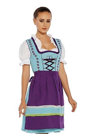 570e39826de Amazon.com  Midi Dirndl aus Exklusiver Kollektion von Lukas INKL. Schürze  und Bluse (20)  Clothing