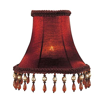 livex lighting s158 bell clip chandelier shade with amber beads 1