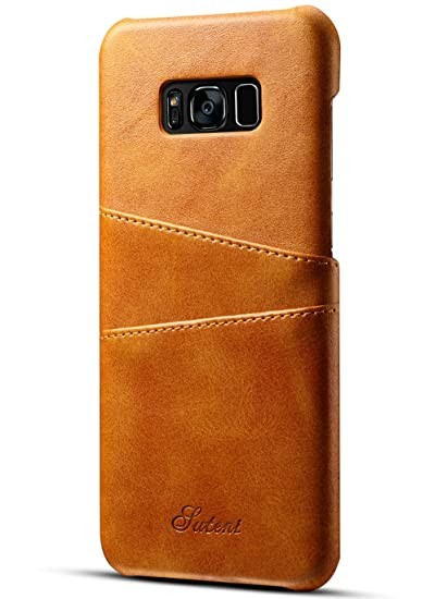 outlet store 41a29 62369 Galaxy S8 Plus Leather Card Case - KUMIHO Ultra Slim Faux Leather Credit  Card Slots ID Holder Protection Cover for Samsung Galaxy S8 Plus (Light ...