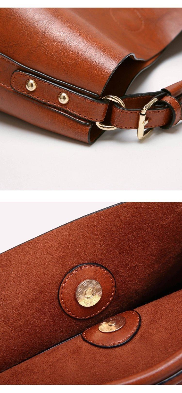 Women Handbags Designer Ladies Satchel Hobo Bags Tote PU Leather Handbags Shoulder Purse by BragBag (Image #2)
