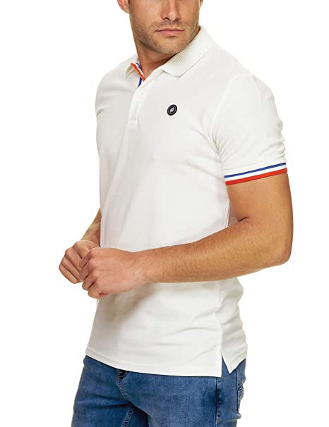 JACK & JONES - Polo - Liso - para Hombre Marfil Crema M: Amazon.es ...