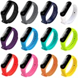 honecumi Colorful Strap Replacement for Mi Band Xiaomi 3/ Xiaomi 4 Watch Band Wrist Strap Bracelet Solid&Pattern Xiaomi…