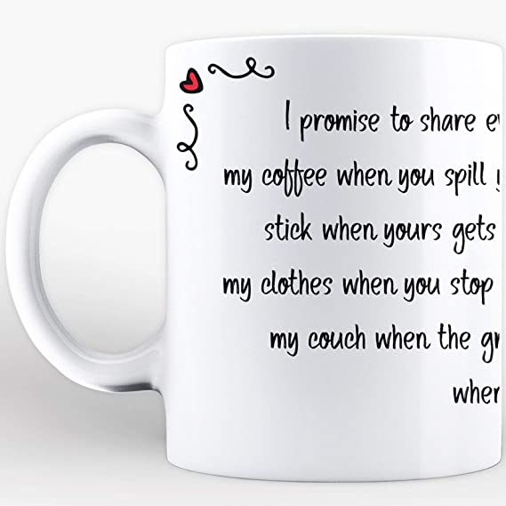 Amazon.com | Oye Happy Love Letter Printed Mug, Ceramic