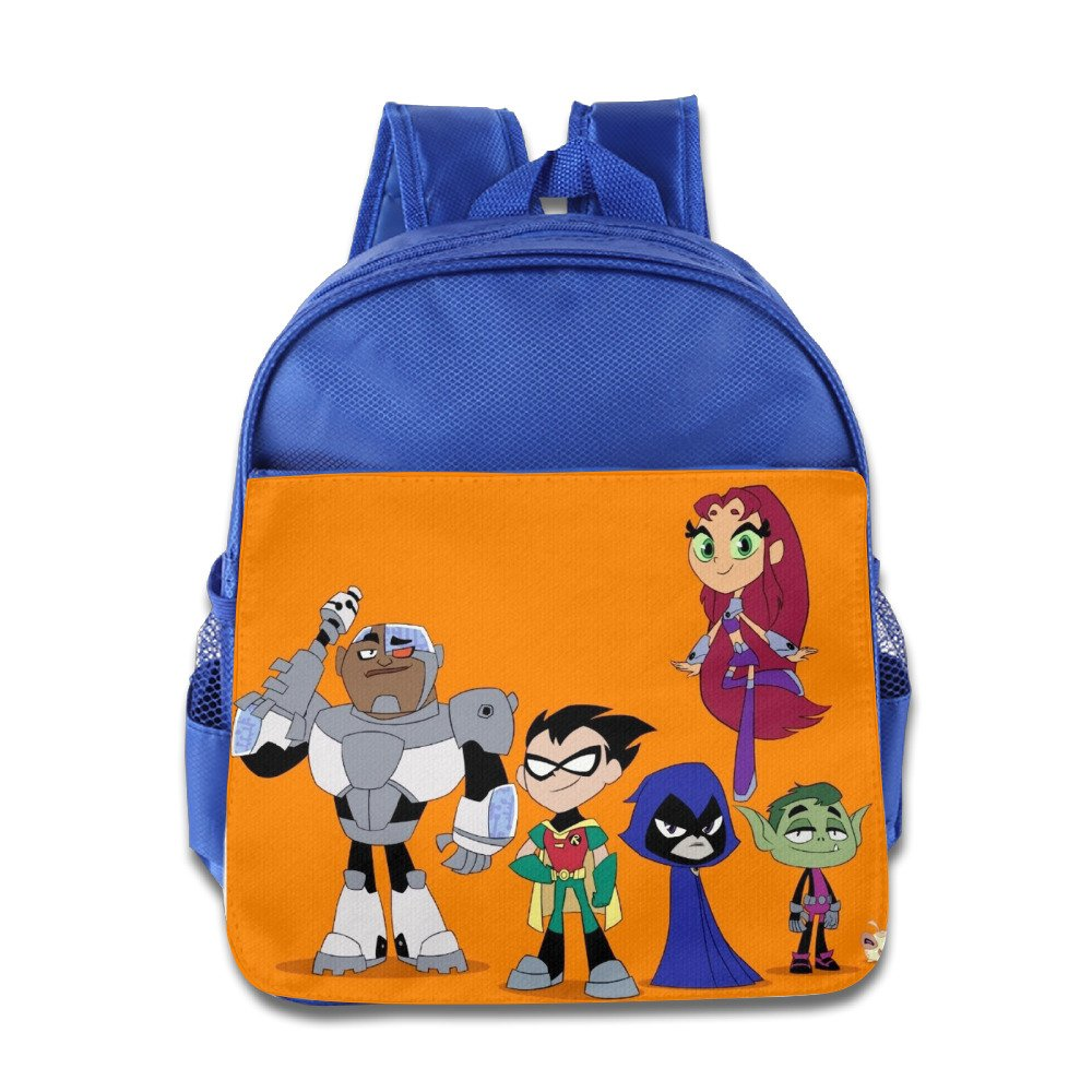 Teen Titans Go Cute Kidsスクールバックパックバッグ B01KNJ66W8 ロイヤルブルー One Size