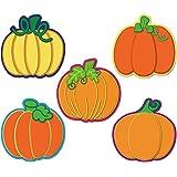 40 Pieces Pumpkin Cutouts Classroom Decoration Pumpkin Cutouts with Glue Point Dots for Bulletin Board Classroom School Fall