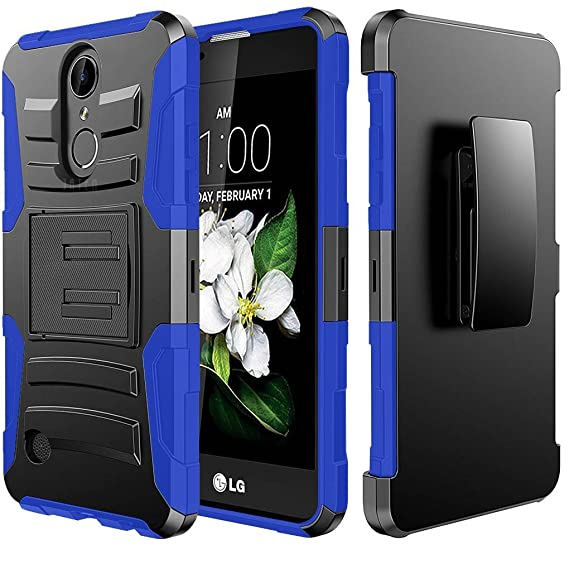 Lg Aristo Holster Case Standard Blue Supreme Protection Hard Plastic W