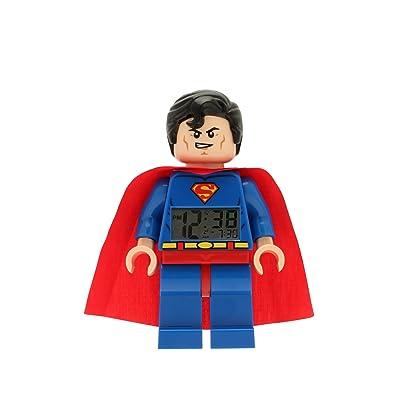 LEGO Dc Universe Super Heroes Superman Minifigure Clock: Home & Kitchen