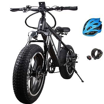 Amazon com : Santa NAKTO Fat Tire Electric Bicycle (20