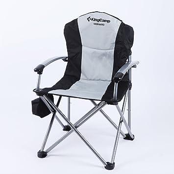 KingCamp Monaro Deluxe acero de silla plegable silla de ...