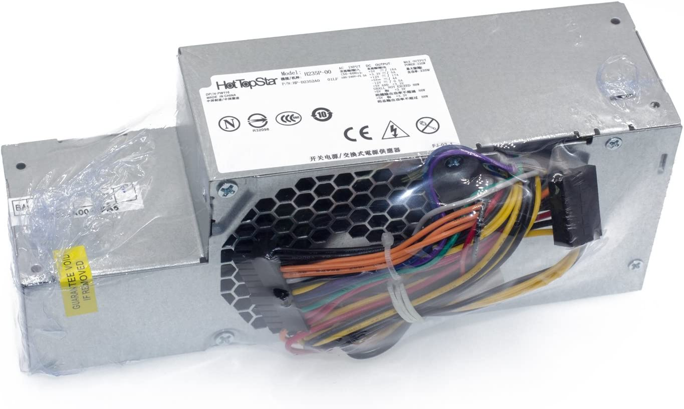 HotTopStar 235W FR610 WU136 PW116 67T67 RM112 R224M Power Supply for Dell Optiplex 760, 960 780 580 SFF Systems, Model Numbers H235P-00 L235P-01 L235P-00 H235E-00 F235E-00 L235ES-00