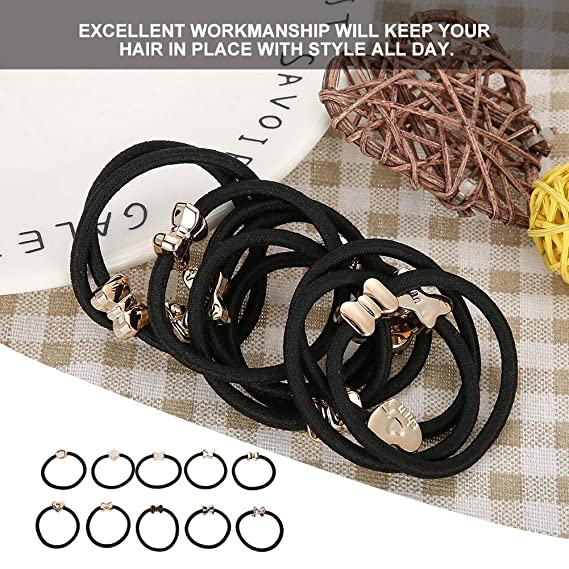 10Pcs Women Girls Hair Band Ties Rope Ring Elastic Hairband Ponytail Holder o