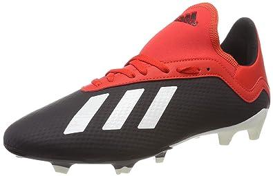 online retailer 63808 95ab6 adidas X 18.3 FG J, Chaussures de Football garçon Noir (Core Black Off
