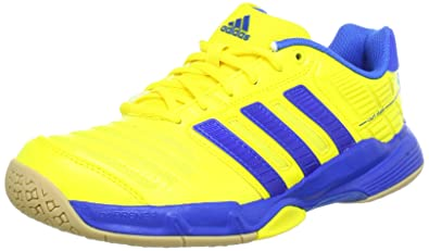 designer fashion 5f2ce 15750 adidas Performance Men s Court Stabil 10 Handball Shoes Yellow Size  6