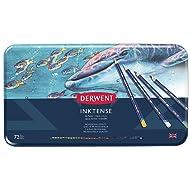 Derwent Inktense Permanent Watercolour Pencils, Set of 72, Professional Quality, 2301843, Multicolor