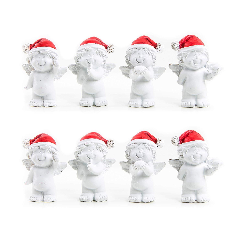 3 X 4 Weihnachten Baby Engel Rot Weiß Mütze 3 8 Cm Mini Engel