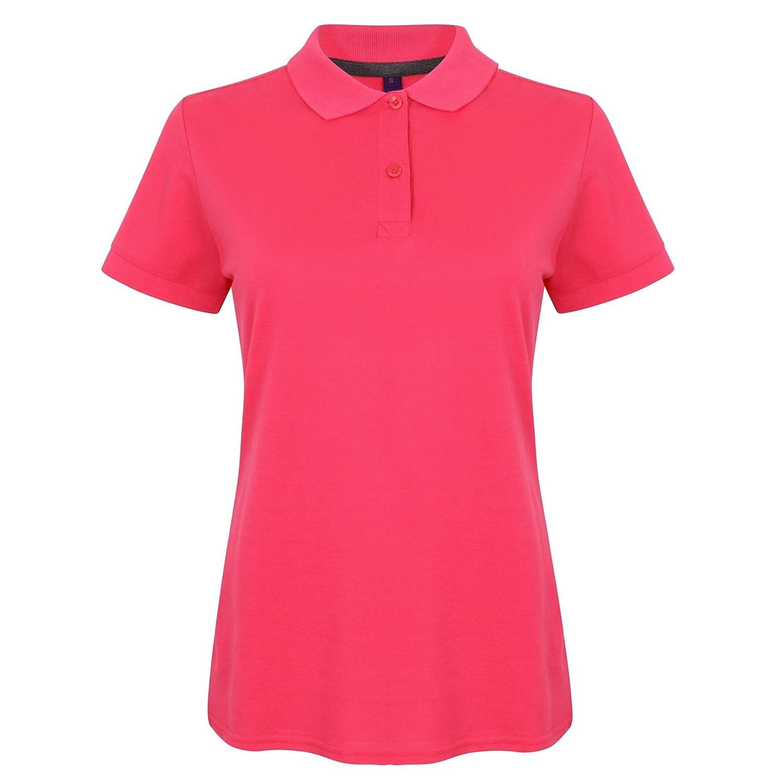 Henbury Womens//Ladies Micro-Fine Short Sleeve Polo Shirt