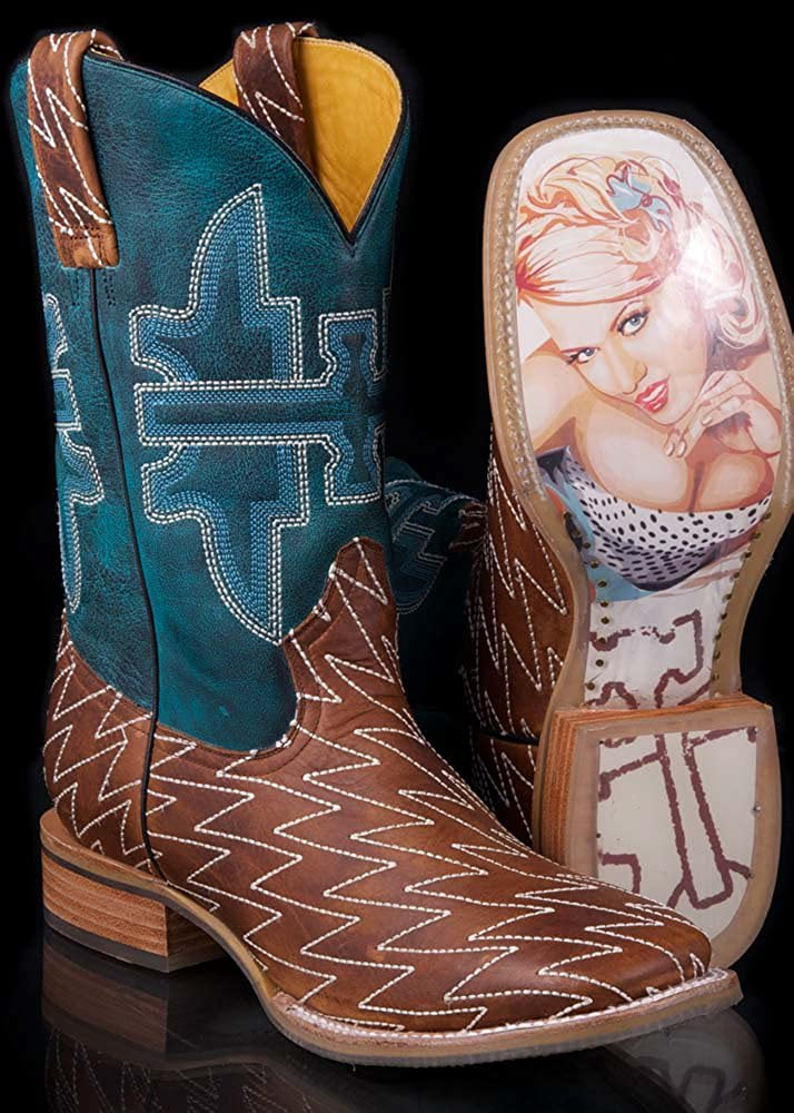 95c7900f4fa Mens Lightning Bolt Stitch Boot with Betty Pin-up Girl Obvious Sole