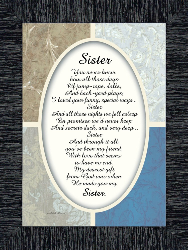 7x9 77909BC Sister Picture Frame Sister Gifts from Sister Reflections Sister