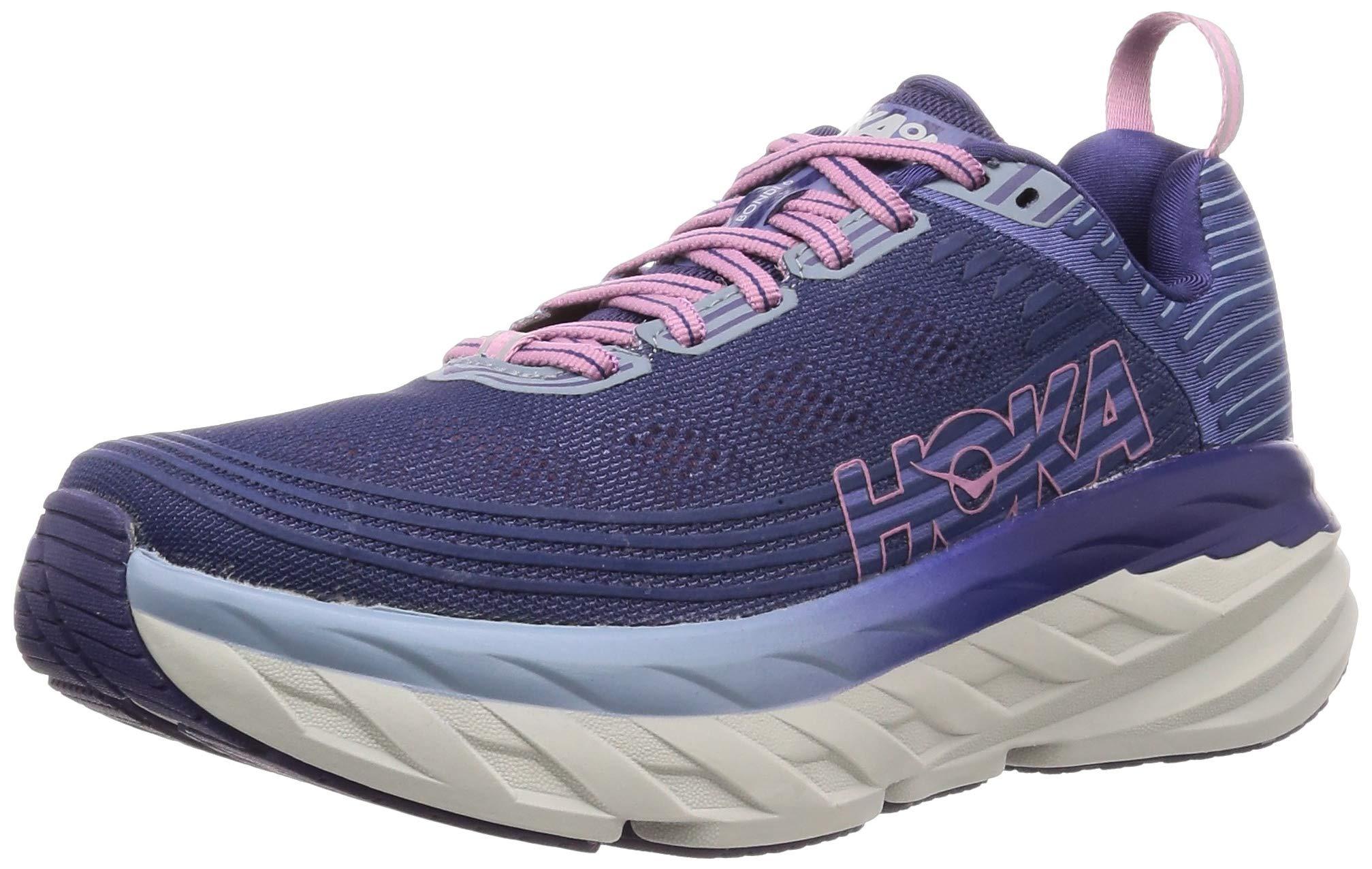 HOKA ONE ONE Womens Bondi 6 Marlin/Blue Ribbon Running Shoe - 6