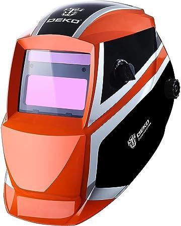 DEKO Auto Darkening Hood with Adjustable 4//9-13 for Mig Tig Arc Welding helmet