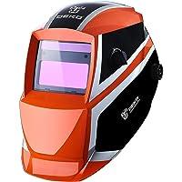 Welding Helmet Auto Darkening Solar Powered Hood with Adjustable Shade Range DIN 4/9-13 for Mig Tig Arc Welder Mask